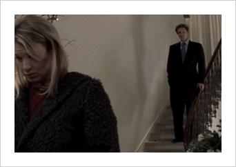 Bridget Jones scene - Mark Darcy descending the stairs