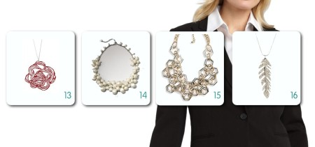 Classic Suit Jacket with Necklace Options