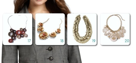 Contemporary Suit Jacket with Necklace Options