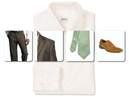 The Analytic - shirt, pants, jacket, tie and shoe