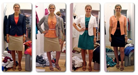 Karli in 4 outfits