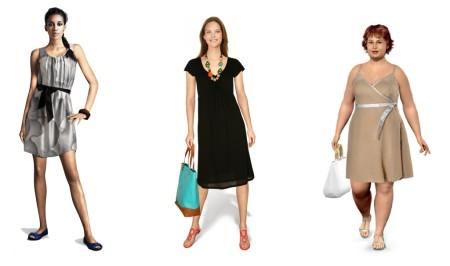 Three women, three different dresses