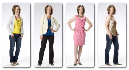 Kathy in 4 outfits