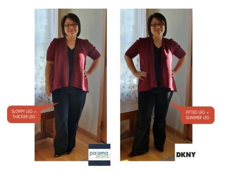 Pajama Jeans vs. DKNY SOHO Front