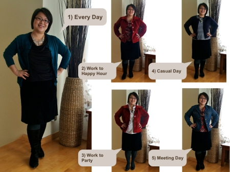 Winter Recap: Suede Skirt Outfits